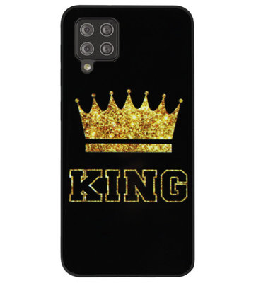 ADEL Siliconen Back Cover Softcase Hoesje voor Samsung Galaxy A12/ M12 - King Koning