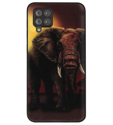 ADEL Siliconen Back Cover Softcase Hoesje voor Samsung Galaxy A12/ M12 - Olifanten