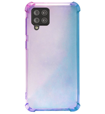 ADEL Siliconen Back Cover Softcase Hoesje voor Samsung Galaxy A12/ M12 - Kleurovergang Blauw Paars