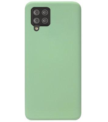 ADEL Premium Siliconen Back Cover Softcase Hoesje voor Samsung Galaxy A12/ M12 - Lichtgroen