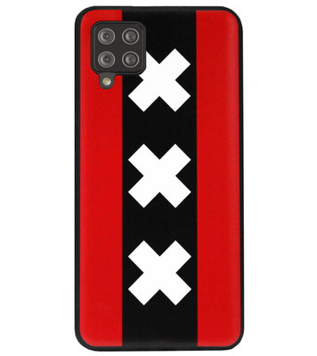 ADEL Siliconen Back Cover Softcase Hoesje voor Samsung Galaxy A12/ M12 - Amsterdam Andreaskruisen