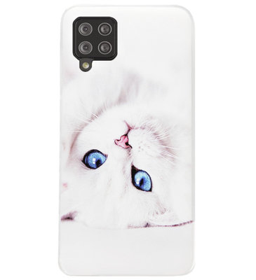 ADEL Siliconen Back Cover Softcase Hoesje voor Samsung Galaxy A12/ M12 - Katten