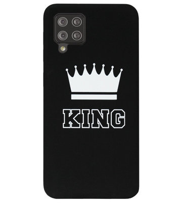 ADEL Siliconen Back Cover Softcase Hoesje voor Samsung Galaxy A12/ M12 - King