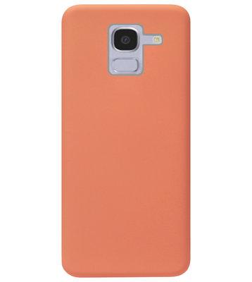 ADEL Premium Siliconen Back Cover Softcase Hoesje voor Samsung Galaxy J6 Plus (2018) - Oranje