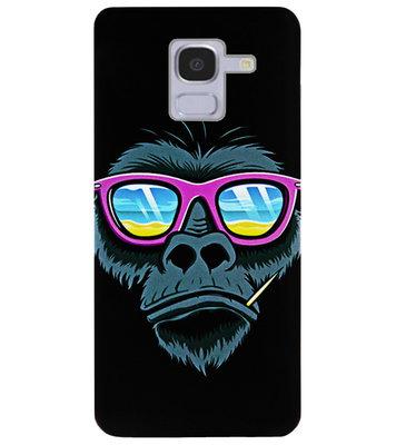 ADEL Siliconen Back Cover Softcase Hoesje voor Samsung Galaxy J6 Plus (2018) - Gorilla Apen