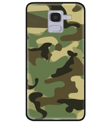 ADEL Siliconen Back Cover Softcase Hoesje voor Samsung Galaxy J6 Plus (2018) - Camouflage