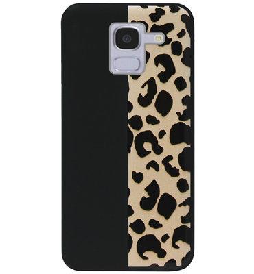 ADEL Siliconen Back Cover Softcase Hoesje voor Samsung Galaxy J6 Plus (2018) - Luipaard Bruin