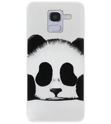 ADEL Siliconen Back Cover Softcase Hoesje voor Samsung Galaxy J6 Plus (2018) - Panda