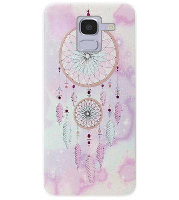 ADEL Siliconen Back Cover Softcase Hoesje voor Samsung Galaxy J6 Plus (2018) - Dromenvanger Kleur
