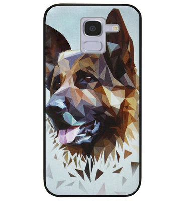 ADEL Siliconen Back Cover Softcase Hoesje voor Samsung Galaxy J6 Plus (2018) - Duitse Herder Hond