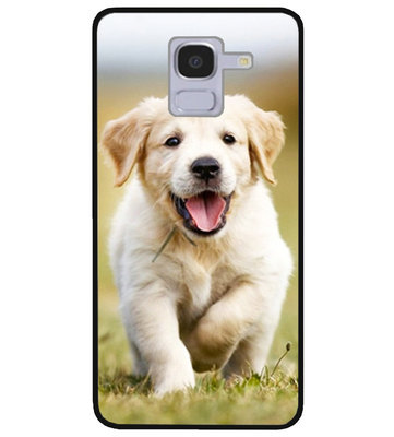 ADEL Siliconen Back Cover Softcase Hoesje voor Samsung Galaxy J6 Plus (2018) - Labrador Retriever Hond