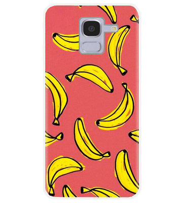 ADEL Siliconen Back Cover Softcase Hoesje voor Samsung Galaxy J6 Plus (2018) - Bananen Geel