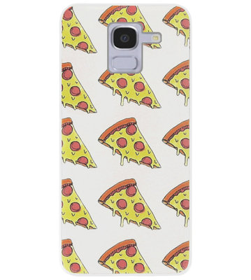 ADEL Siliconen Back Cover Softcase Hoesje voor Samsung Galaxy J6 Plus (2018) - Junkfood Pizza