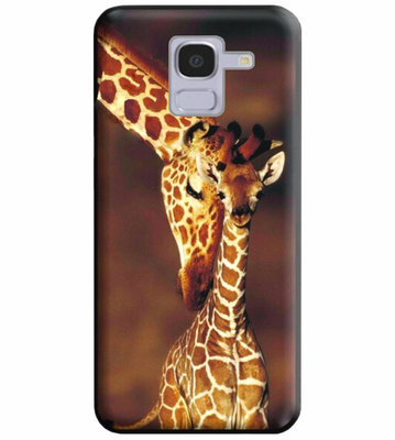 ADEL Siliconen Back Cover Softcase Hoesje voor Samsung Galaxy J6 Plus (2018) - Giraf