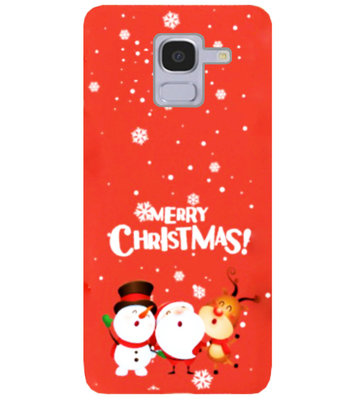 ADEL Siliconen Back Cover Softcase Hoesje voor Samsung Galaxy J6 Plus (2018) - Kerstmis Rood