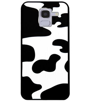 ADEL Siliconen Back Cover Softcase Hoesje voor Samsung Galaxy J6 Plus (2018) - Koeienhuid