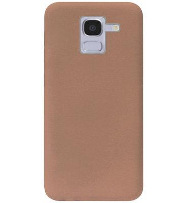 ADEL Siliconen Back Cover Softcase Hoesje voor Samsung Galaxy J6 Plus (2018) - Bruin