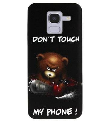 ADEL Siliconen Back Cover Softcase Hoesje voor Samsung Galaxy J6 Plus (2018) - Don't Touch My Phone Beren