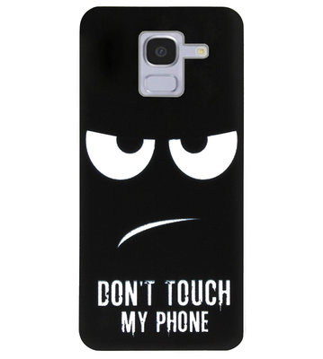 ADEL Siliconen Back Cover Softcase Hoesje voor Samsung Galaxy J6 Plus (2018) - Don't Touch My Phone