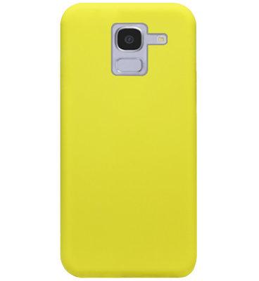 ADEL Premium Siliconen Back Cover Softcase Hoesje voor Samsung Galaxy J6 Plus (2018) - Geel
