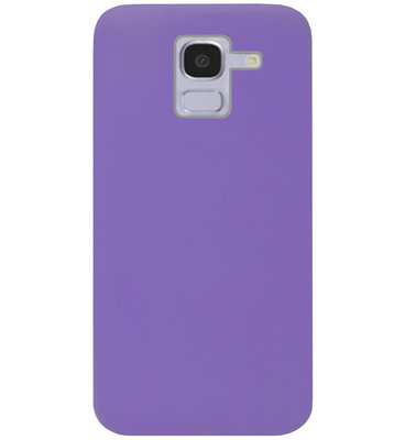 ADEL Siliconen Back Cover Softcase Hoesje voor Samsung Galaxy J6 Plus (2018) - Paars