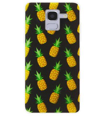 ADEL Siliconen Back Cover Softcase Hoesje voor Samsung Galaxy J6 Plus (2018) - Ananas