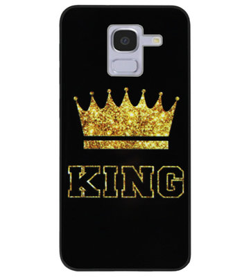 ADEL Siliconen Back Cover Softcase Hoesje voor Samsung Galaxy J6 Plus (2018) - King Koning