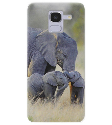 ADEL Siliconen Back Cover Softcase Hoesje voor Samsung Galaxy J6 Plus (2018) - Olifant Familie