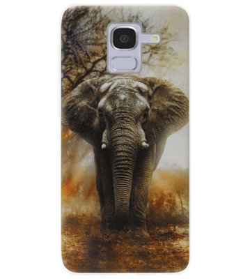 ADEL Siliconen Back Cover Softcase Hoesje voor Samsung Galaxy J6 Plus (2018) - Olifanten