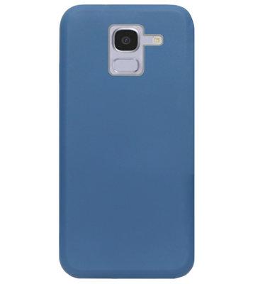 ADEL Premium Siliconen Back Cover Softcase Hoesje voor Samsung Galaxy J6 Plus (2018) - Blauw