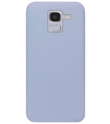 ADEL Premium Siliconen Back Cover Softcase Hoesje voor Samsung Galaxy J6 Plus (2018) - Lavendel Grijs