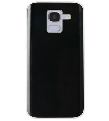 ADEL Siliconen Back Cover Softcase Hoesje voor Samsung Galaxy J6 Plus (2018) - Doorzichtig Transparant