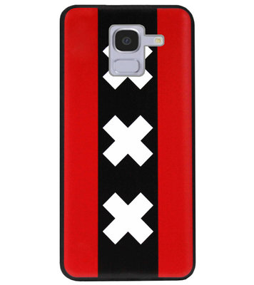 ADEL Siliconen Back Cover Softcase Hoesje voor Samsung Galaxy J6 Plus (2018) - Amsterdam Andreaskruisen