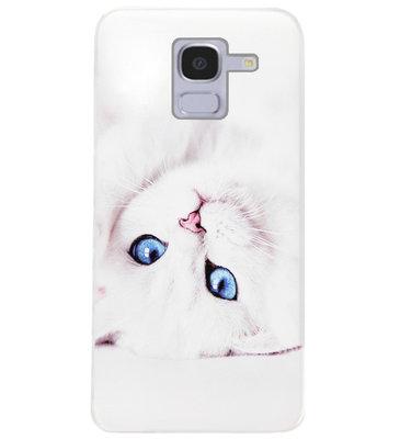 ADEL Siliconen Back Cover Softcase Hoesje voor Samsung Galaxy J6 Plus (2018) - Katten
