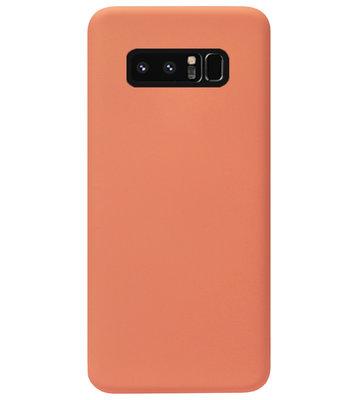 ADEL Premium Siliconen Back Cover Softcase Hoesje voor Samsung Galaxy Note 8 - Oranje