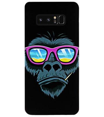 ADEL Siliconen Back Cover Softcase Hoesje voor Samsung Galaxy Note 8 - Gorilla Apen