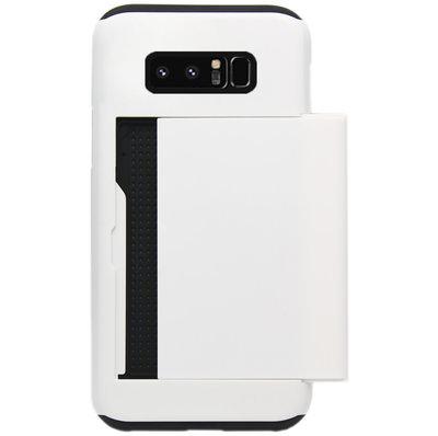 ADEL Kunststof Back Cover Hardcase Hoesje voor Samsung Galaxy Note 8 - Pasjeshouder Wit
