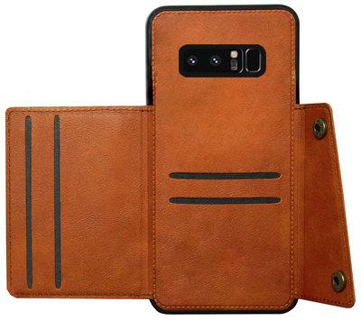 ADEL Kunstleren Back Cover Pasjeshouder Hoesje voor Samsung Galaxy Note 8 - Bruin