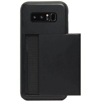 ADEL Kunststof Back Cover Hardcase Hoesje voor Samsung Galaxy Note 8 - Pasjeshouder Zwart