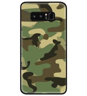 ADEL Siliconen Back Cover Softcase Hoesje voor Samsung Galaxy Note 8 - Camouflage