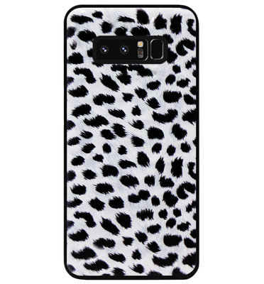 ADEL Siliconen Back Cover Softcase Hoesje voor Samsung Galaxy Note 8 - Luipaard Wit