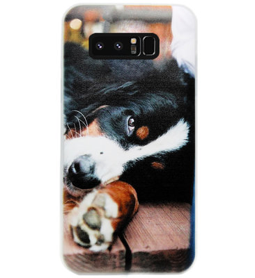 ADEL Siliconen Back Cover Softcase Hoesje voor Samsung Galaxy Note 8 - Berner Sennenhond