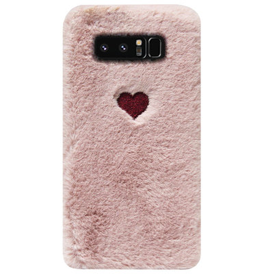 ADEL Siliconen Back Cover Softcase Hoesje voor Samsung Galaxy Note 8 - Hartjes Roze