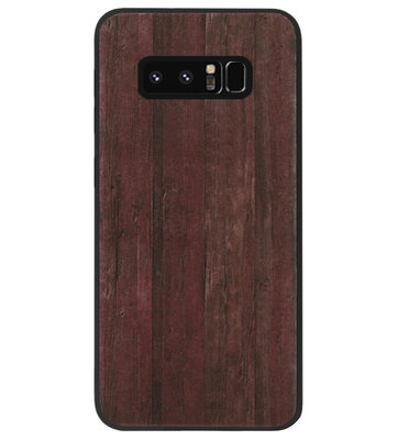 ADEL Siliconen Back Cover Softcase Hoesje voor Samsung Galaxy Note 8 - Hout Design Bruin