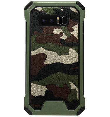 ADEL Kunststof Bumper Case Hoesje voor Samsung Galaxy Note 8 - Camouflage Groen