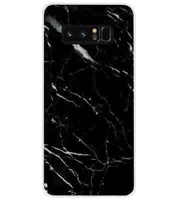 ADEL Siliconen Back Cover Softcase Hoesje voor Samsung Galaxy Note 8 - Marmer Zwart