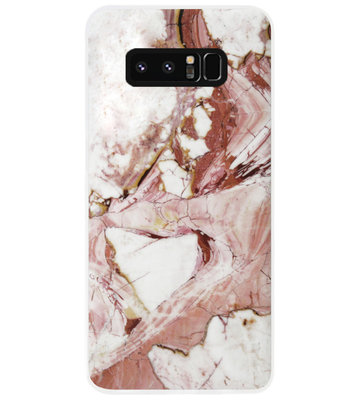 ADEL Siliconen Back Cover Softcase Hoesje voor Samsung Galaxy Note 8 - Marmer Rood