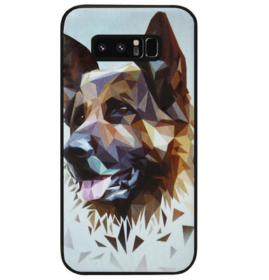 ADEL Siliconen Back Cover Softcase Hoesje voor Samsung Galaxy Note 8 - Duitse Herder Hond