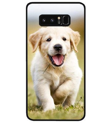 ADEL Siliconen Back Cover Softcase Hoesje voor Samsung Galaxy Note 8 - Labrador Retriever Hond