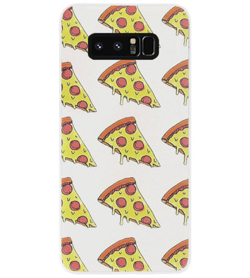 ADEL Siliconen Back Cover Softcase Hoesje voor Samsung Galaxy Note 8 - Junkfood Pizza